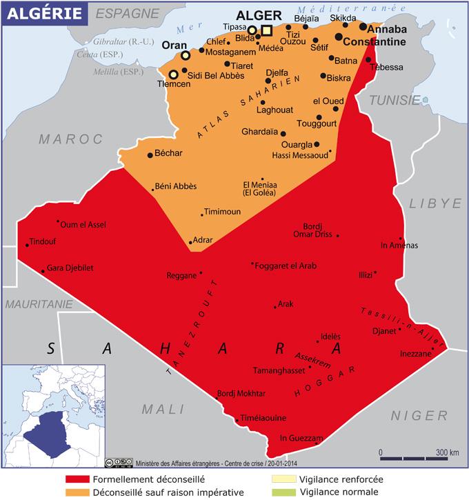 algérie grande carte