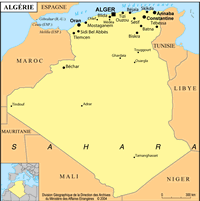 algérie petite carte