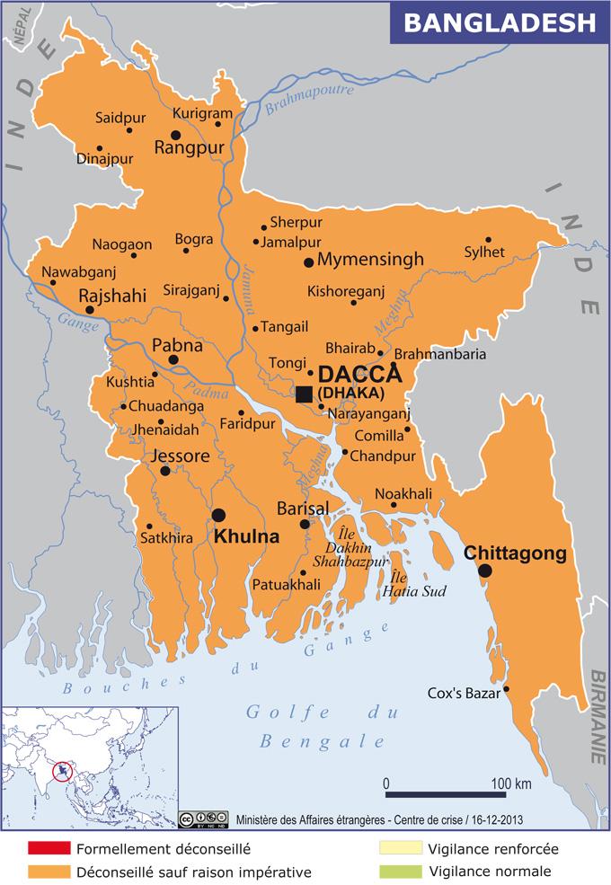 bangladesh grande carte