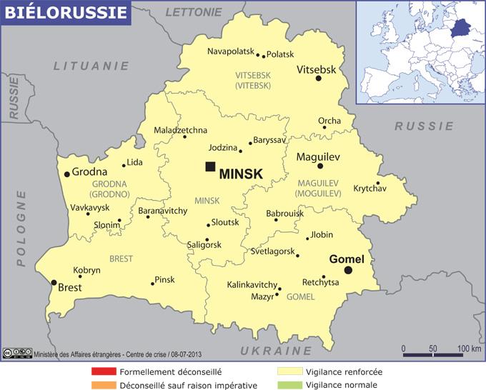 Biélorussie grande carte