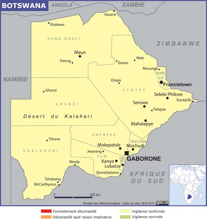 Botswana grande carte