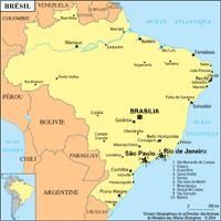 brésil petite carte