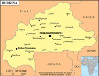 Burkina petite carte