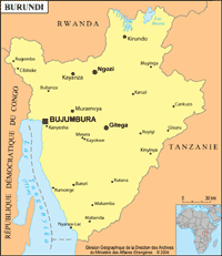 Burundi petite carte