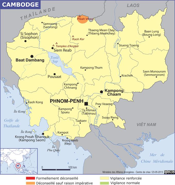 Cambodge grande carte