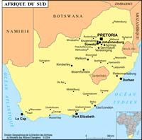 Petite carte Afrique du Sud