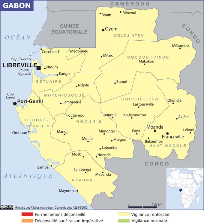 Grande carte du Gabon