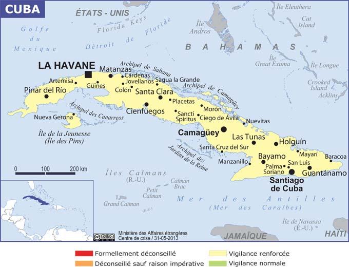 Cuba grande carte