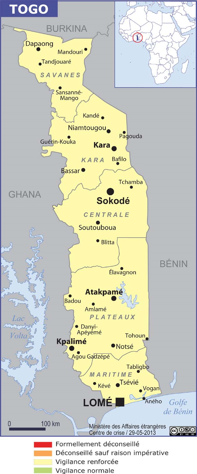 Togo grande carte