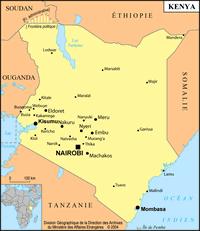 Kenya petite carte